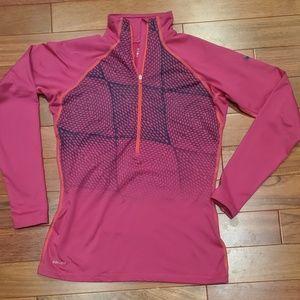 Nike Pro Dri-Fit 1/2 Zip Jacket Layer Top